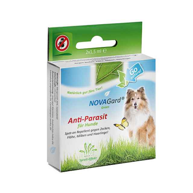 NovaGard Green Spot-on für Hunde gegen Zecken, Flöhe, Milben