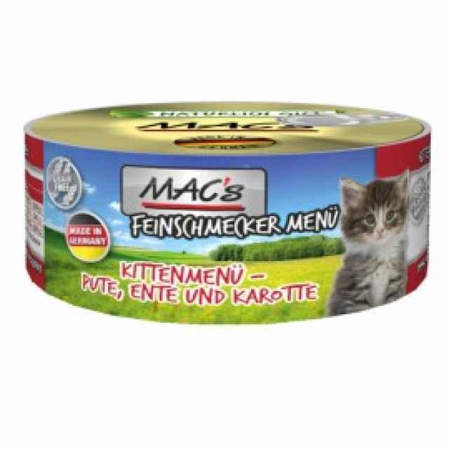 MACs Kittenmenü Ente & Karotte 100g